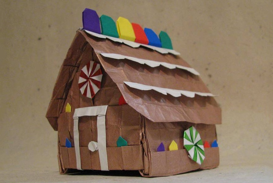 Origami Gingerbread House
