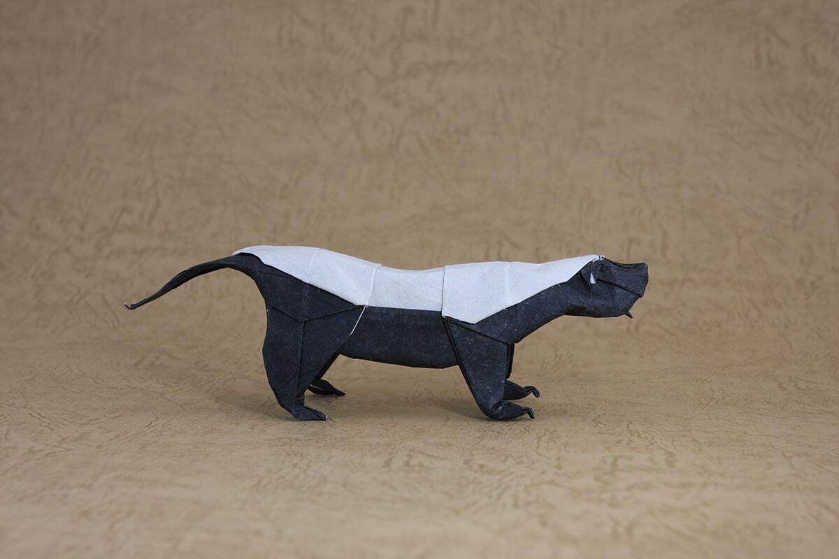 Origami Honey Badger