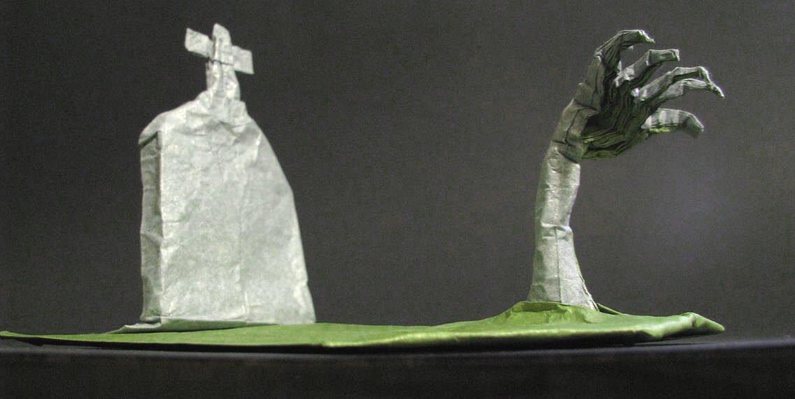 Origami Zombie Hand