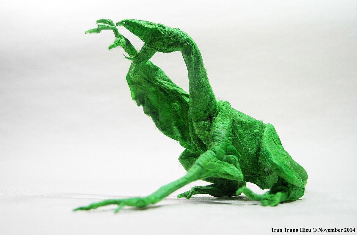 Origami Dromaeosaurus
