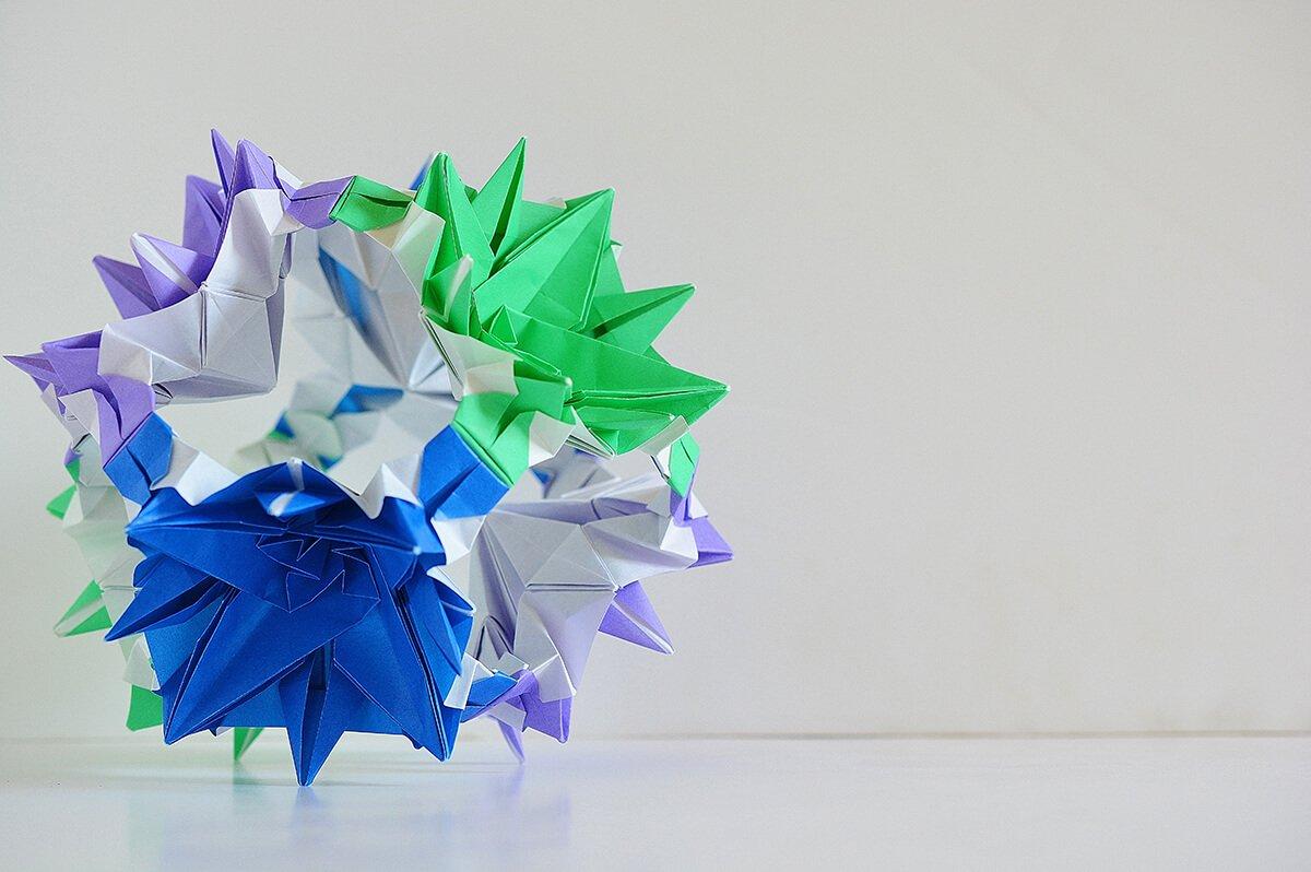 Origami Grand Memorial Flower Cube
