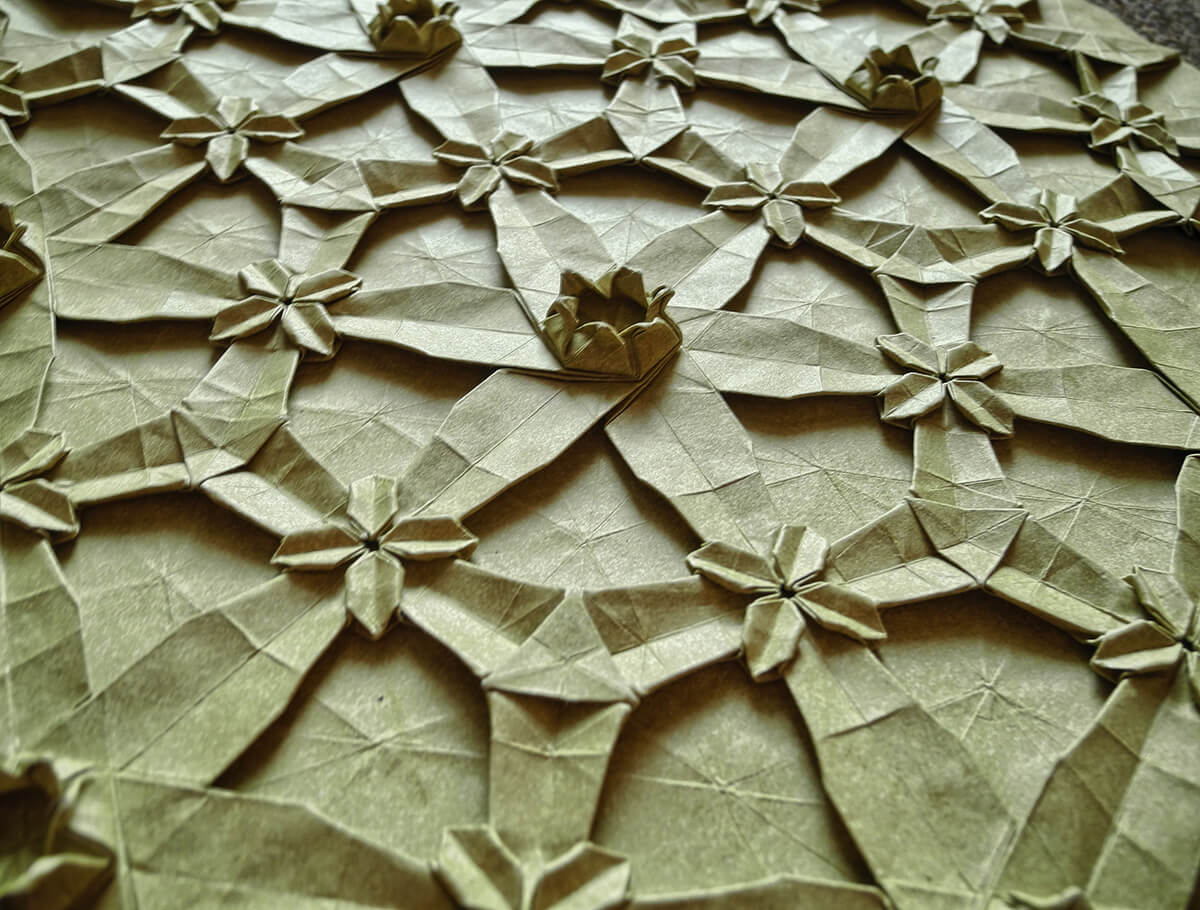 Hydringringea Origami Tessellation by Robin Scholz