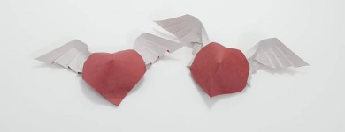 Origami Angel Hearts