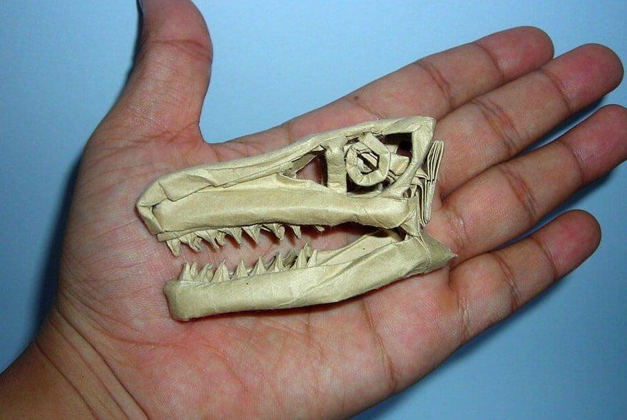 Origami Dinosaur Skull