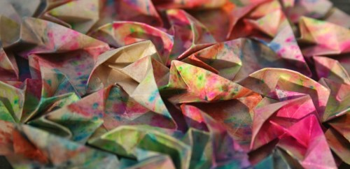 Origami Fireworks Tessellation by Joel Cooper