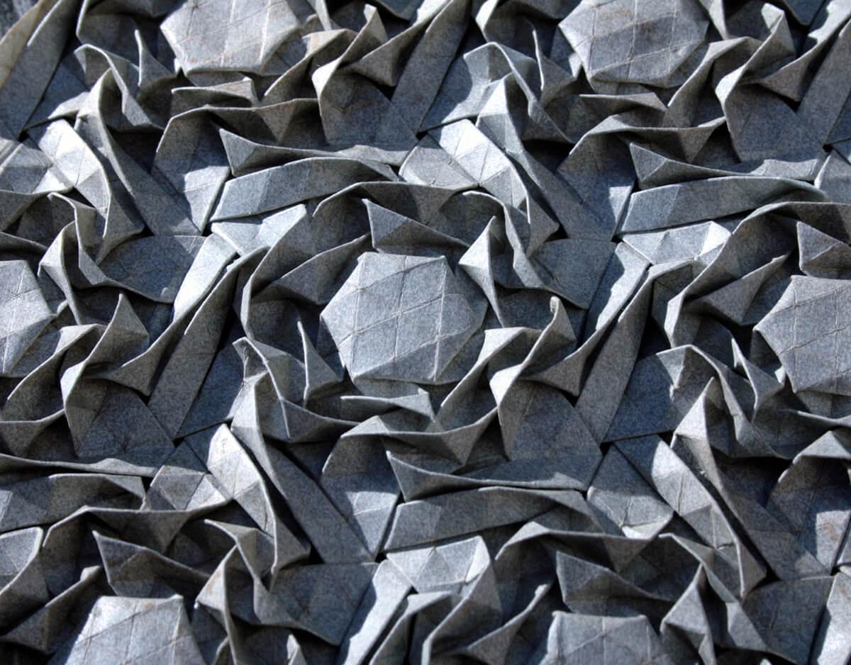 Origami Wreaths Tessellation by Joel Cooper