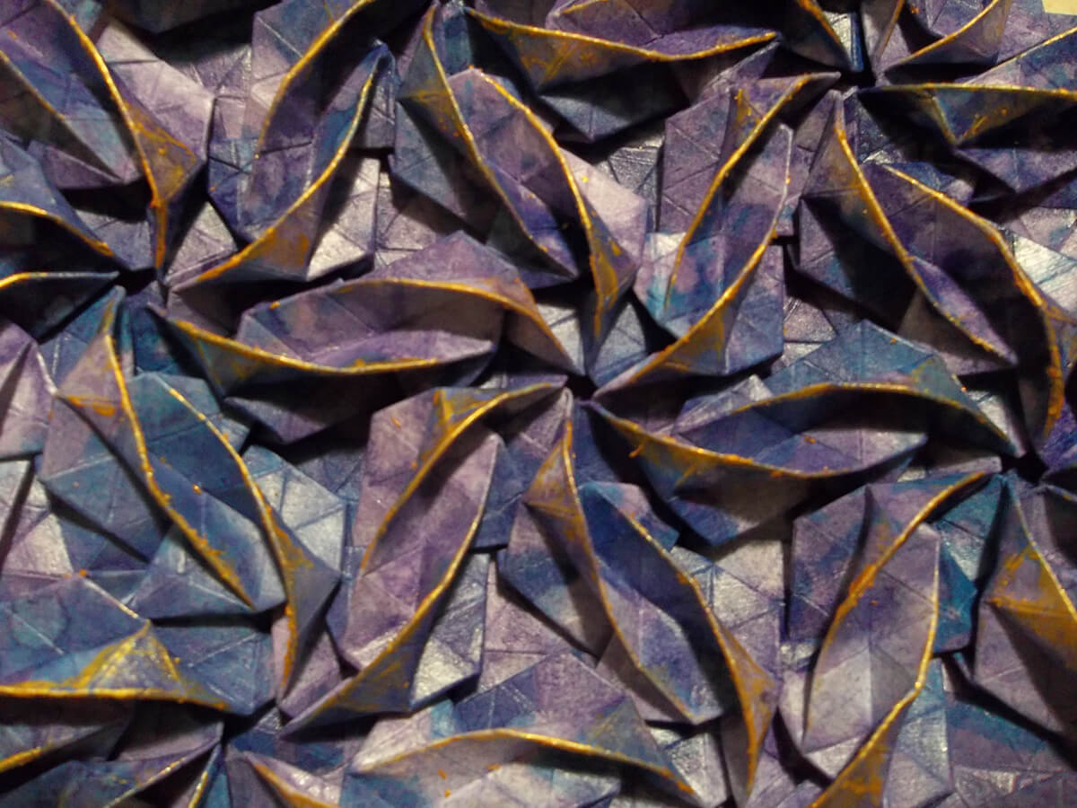 Spiral Galaxy M81 Origami Tessellation by Peter Keller