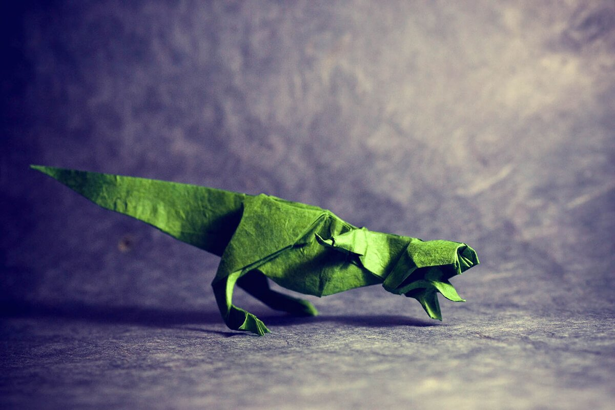 11 Ferocious Origami Dinosaurs
