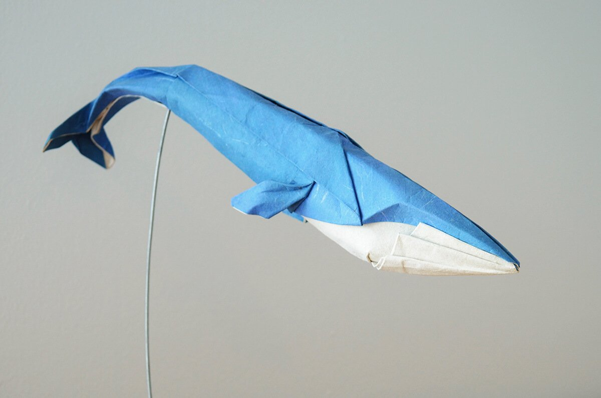 Origami Blue Whale