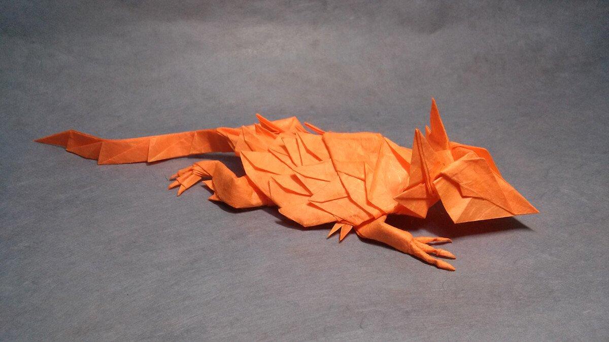 Origami Horned Lizard