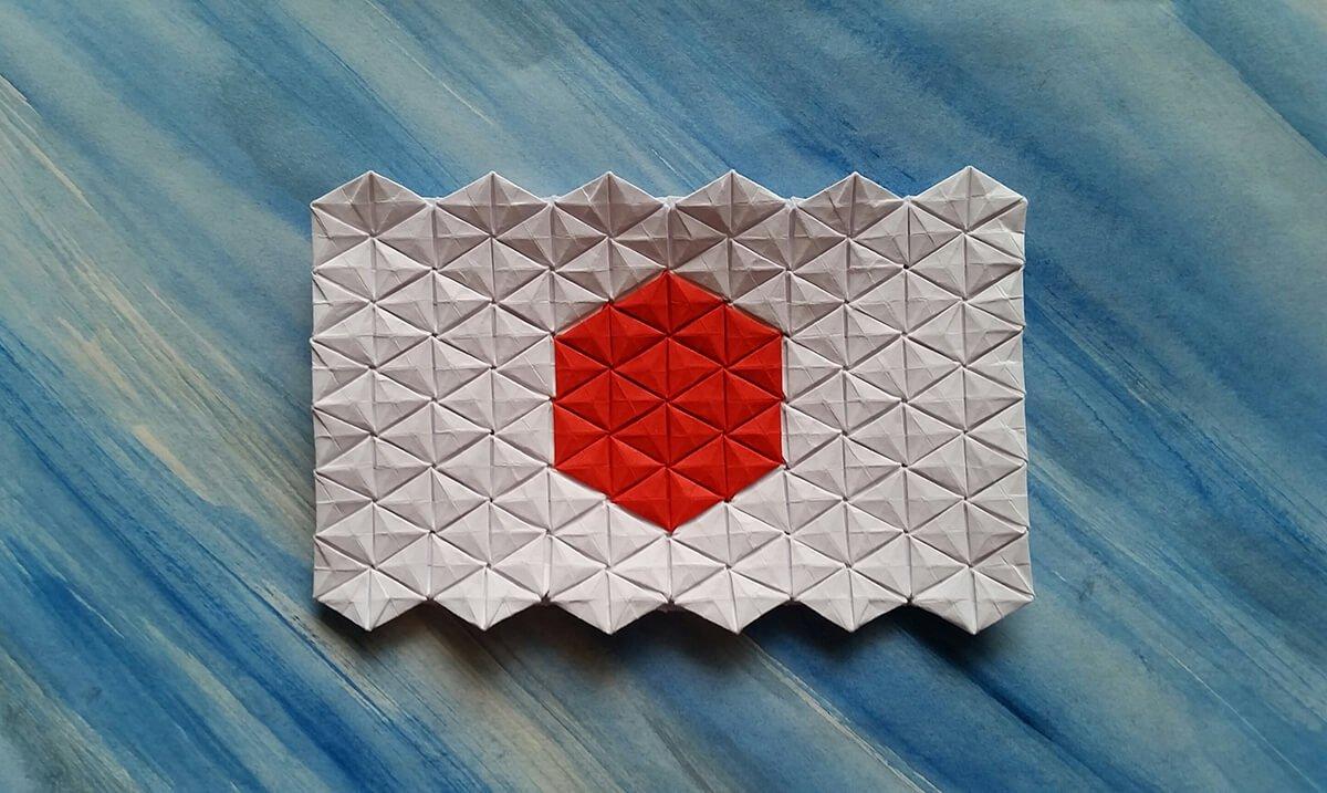 Origami Japanese Flag Tessellation