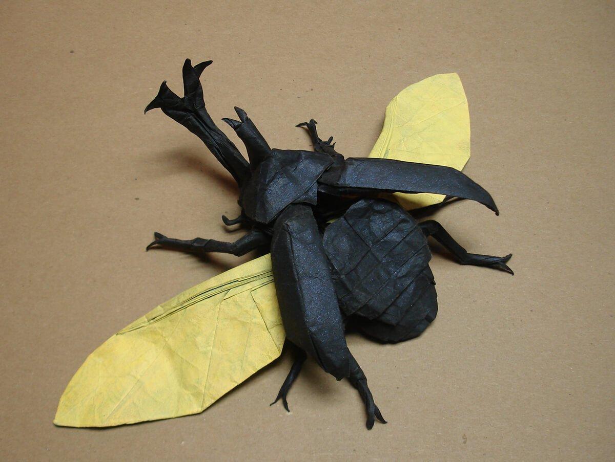 Origami Kabutomushi