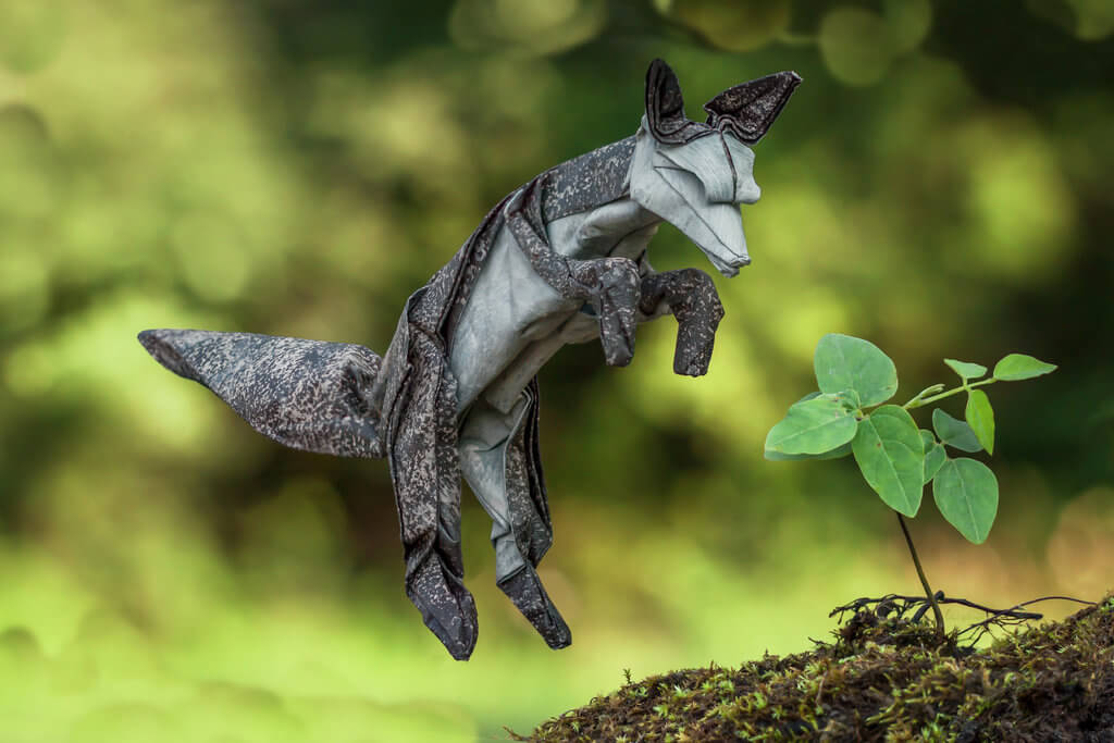 Origami Summer Arctic Fox