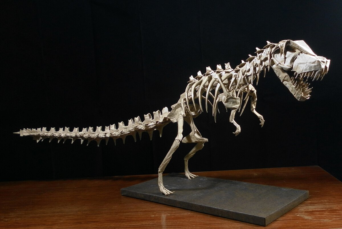 Origami Tyrannosaurus Rex Head