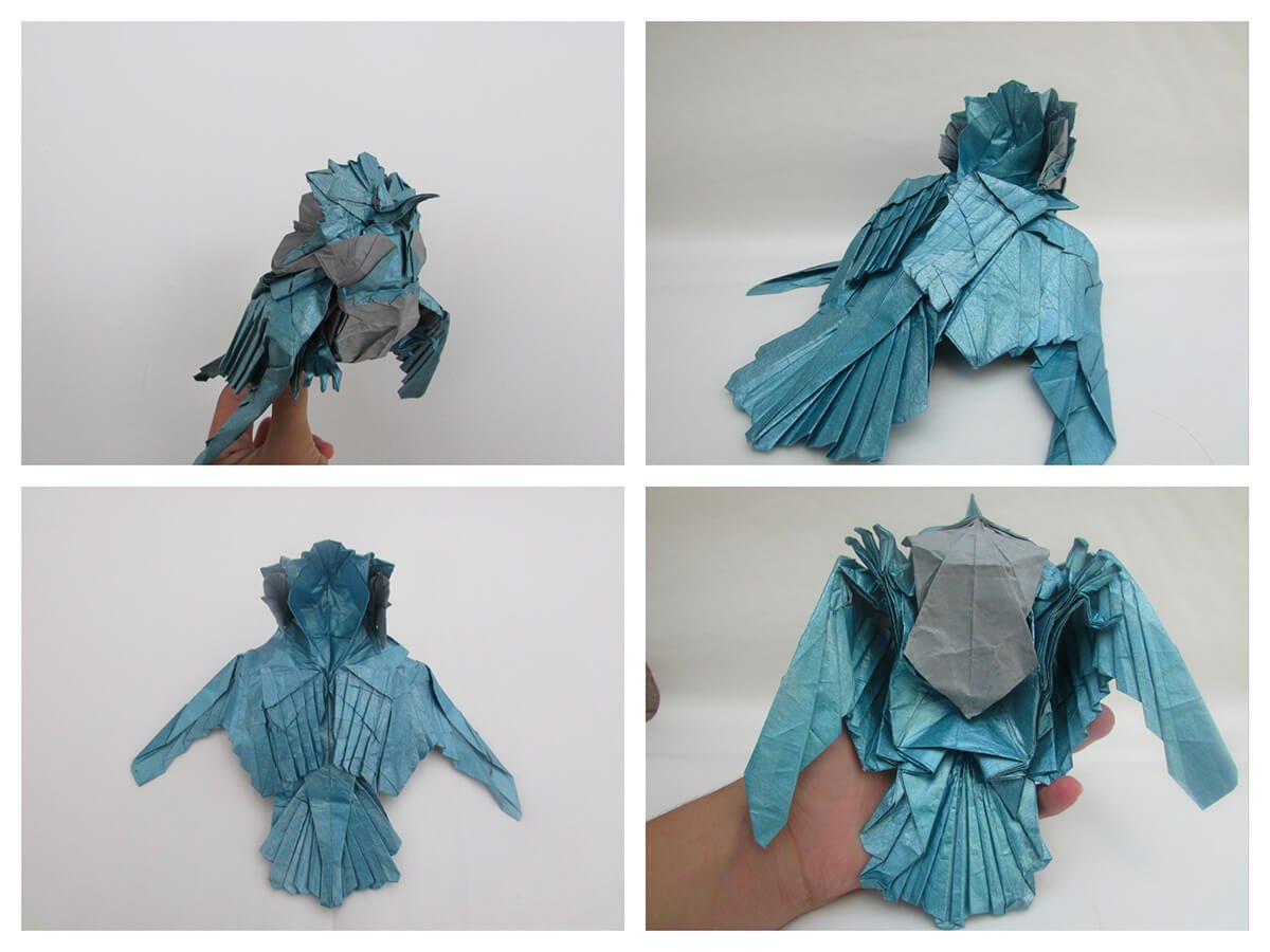 Origami Kingfisher
