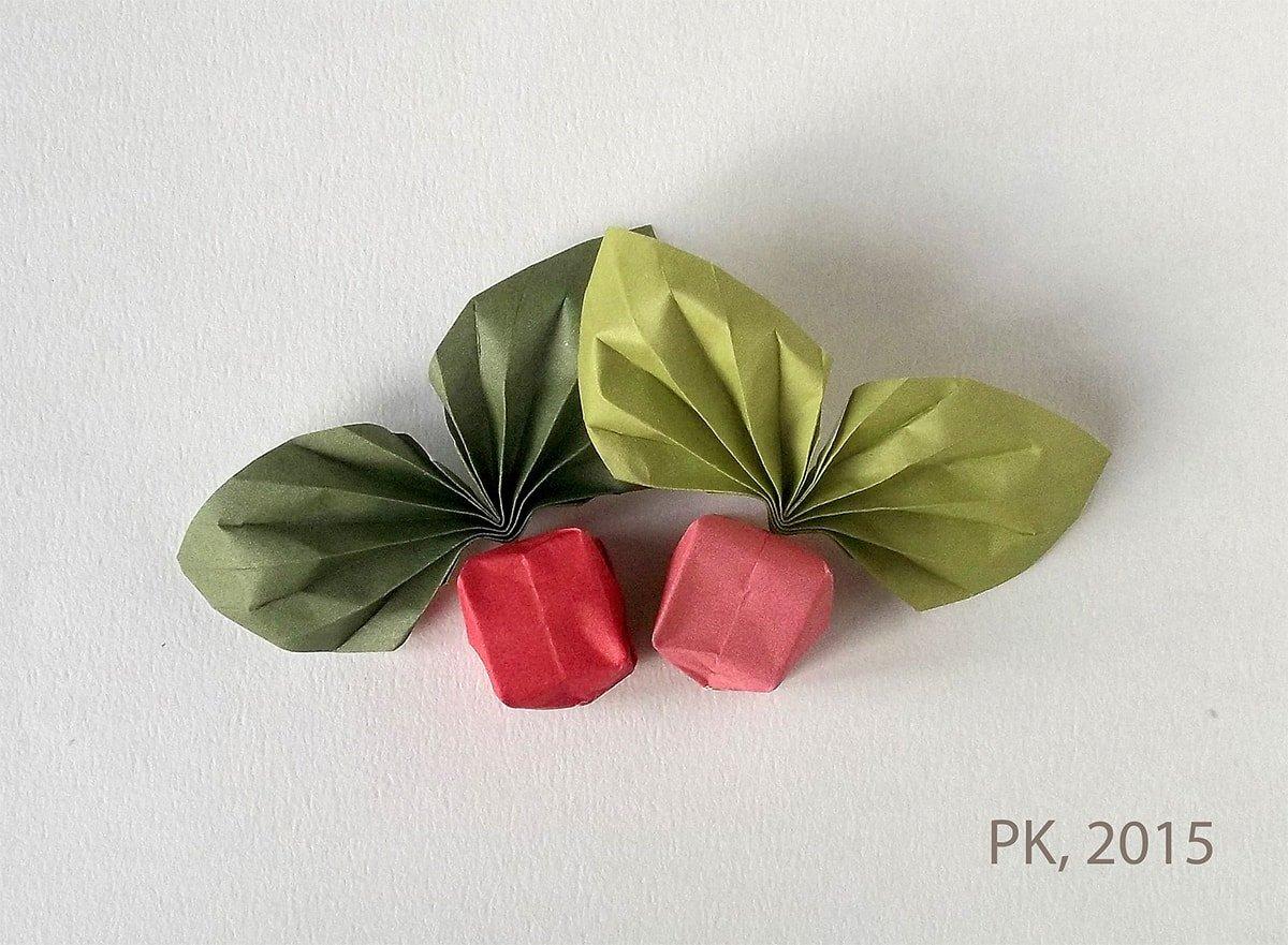 Origami Raddishes