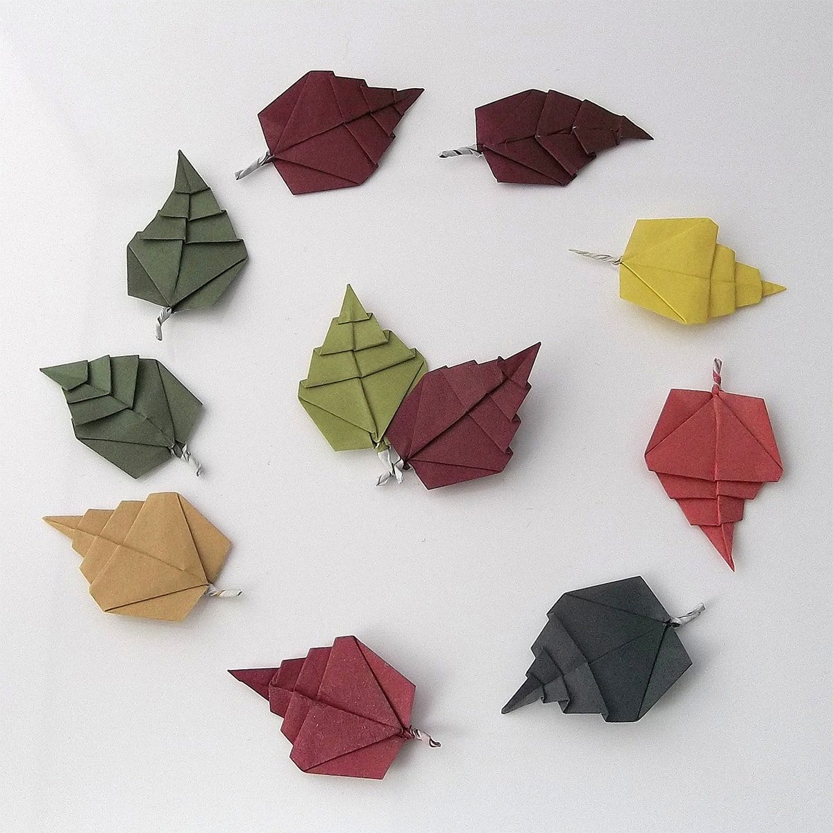 leaves origami 28 images easy origami leaf paper