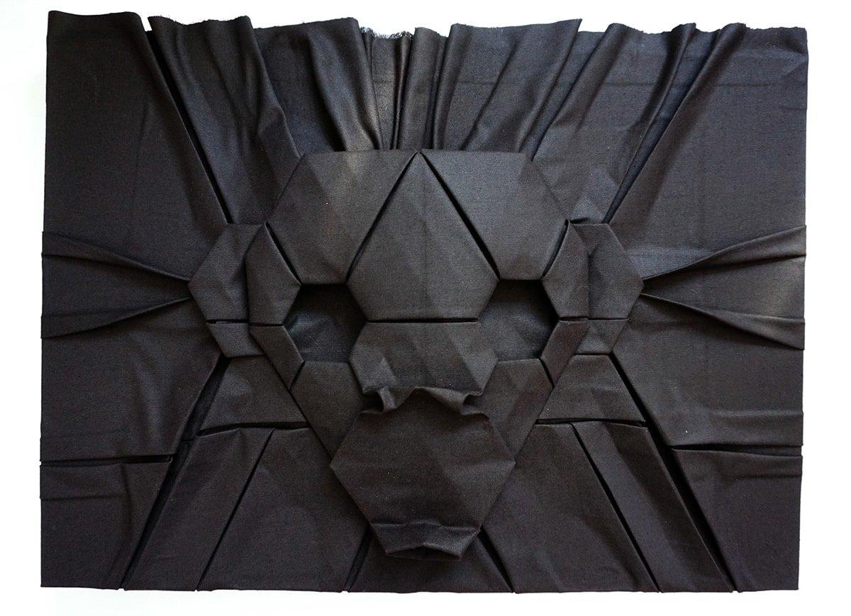 Monkey Folded Out of Fabric