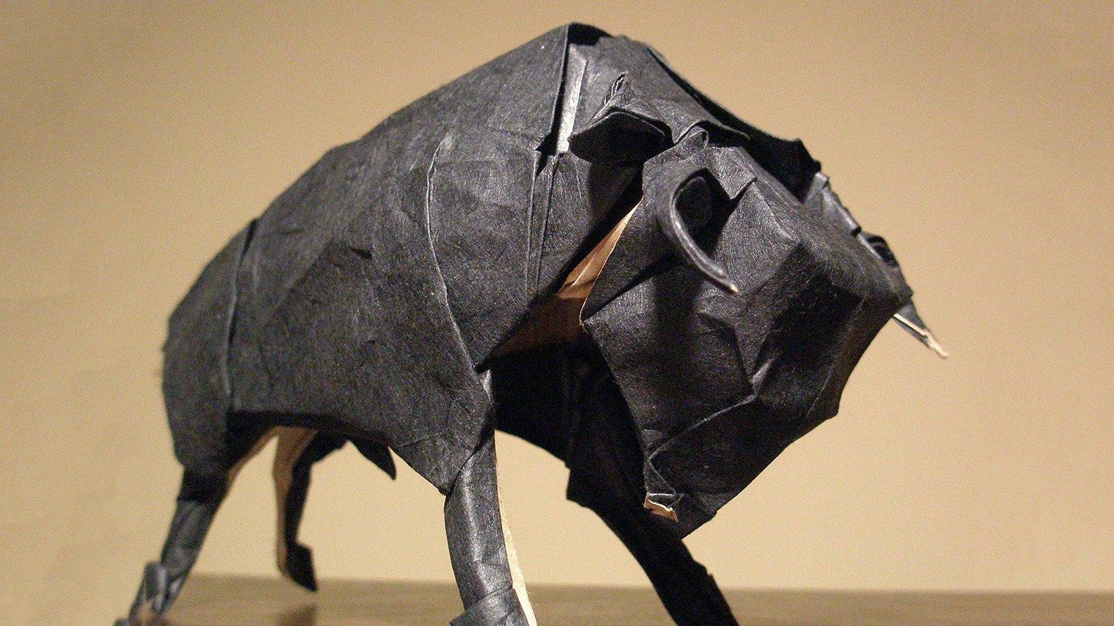 Wallaby Brass Origami Bull Sculpture, Jewish & Israeli Art ... | 900x1600