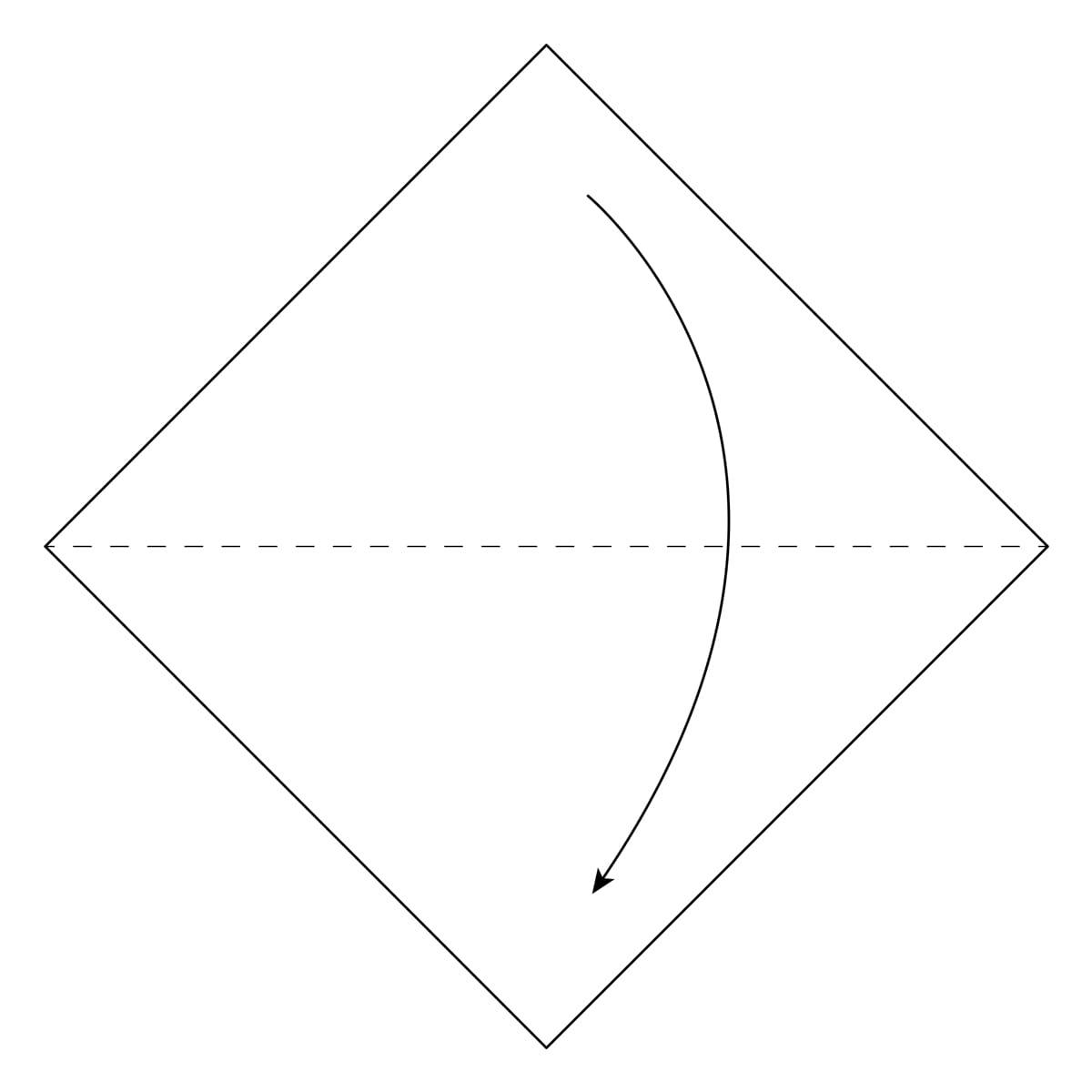 Inside Reverse Fold Step 1