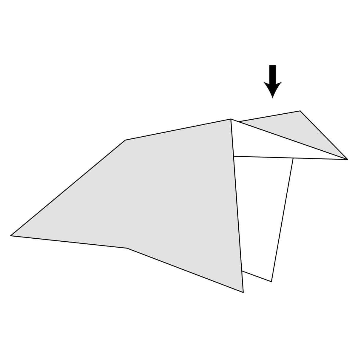 Inside Reverse Fold Step 9