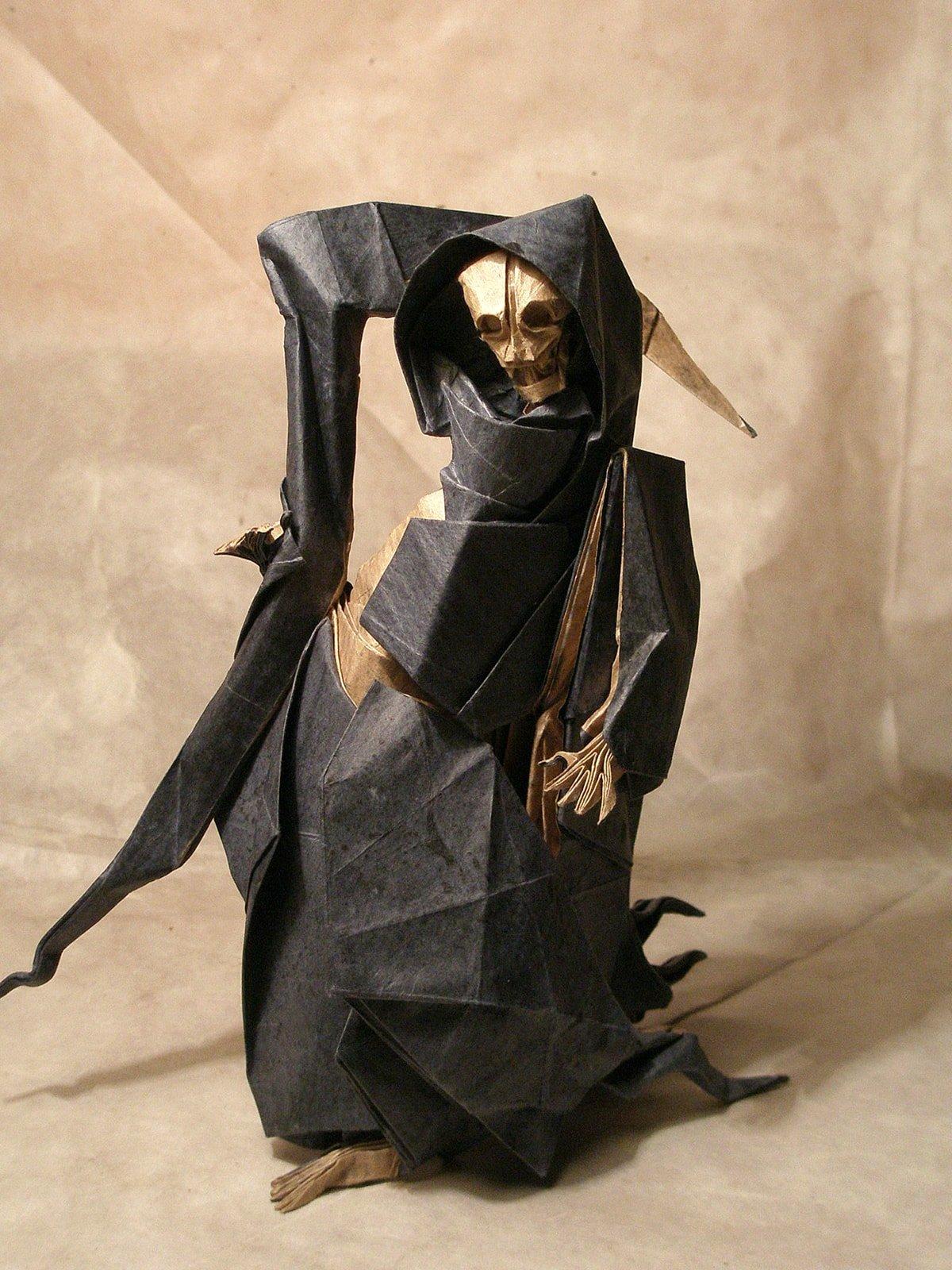 Origami Grim Reaper by Artur Biernacki