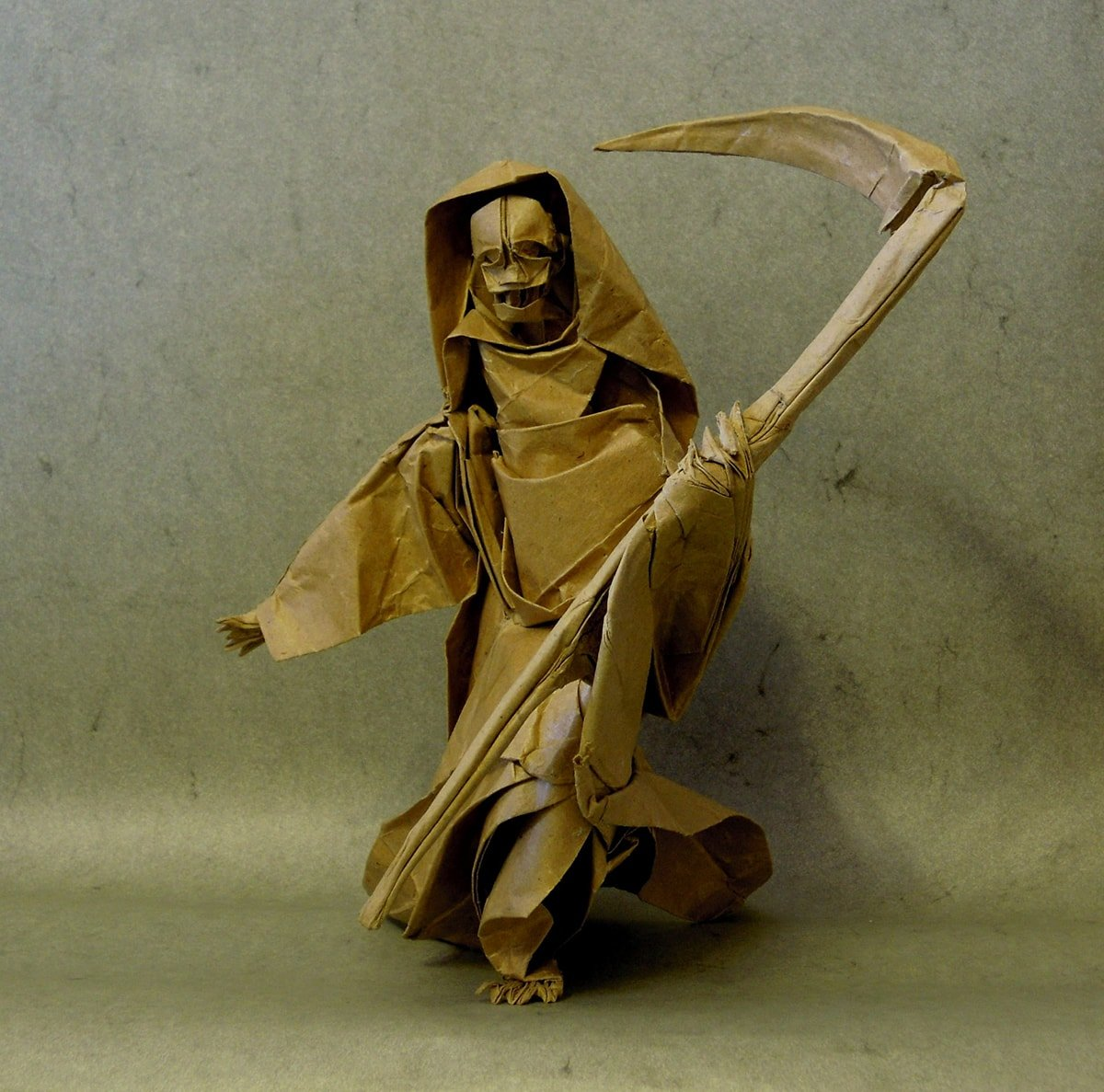 Origami Grim Reaper by Dzmitry Lysiuk