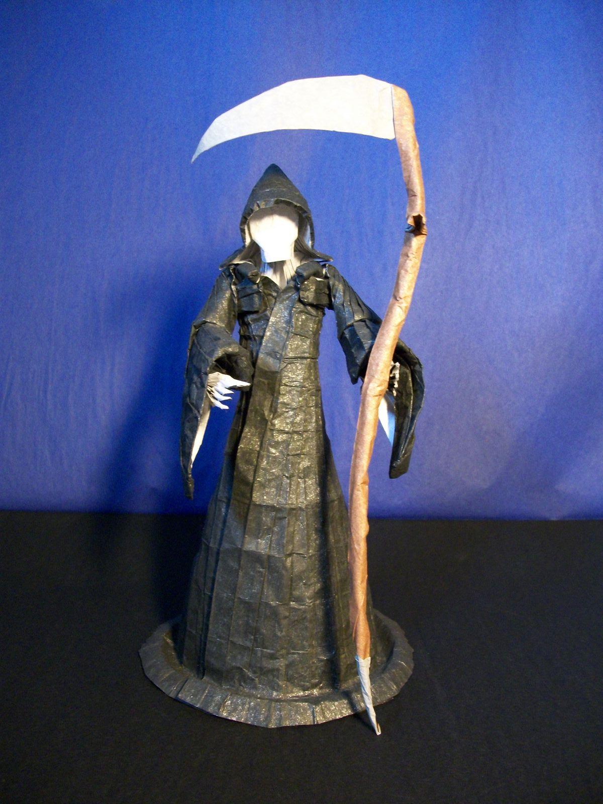 Origami Grim Reaper by Hubert Villeneuve