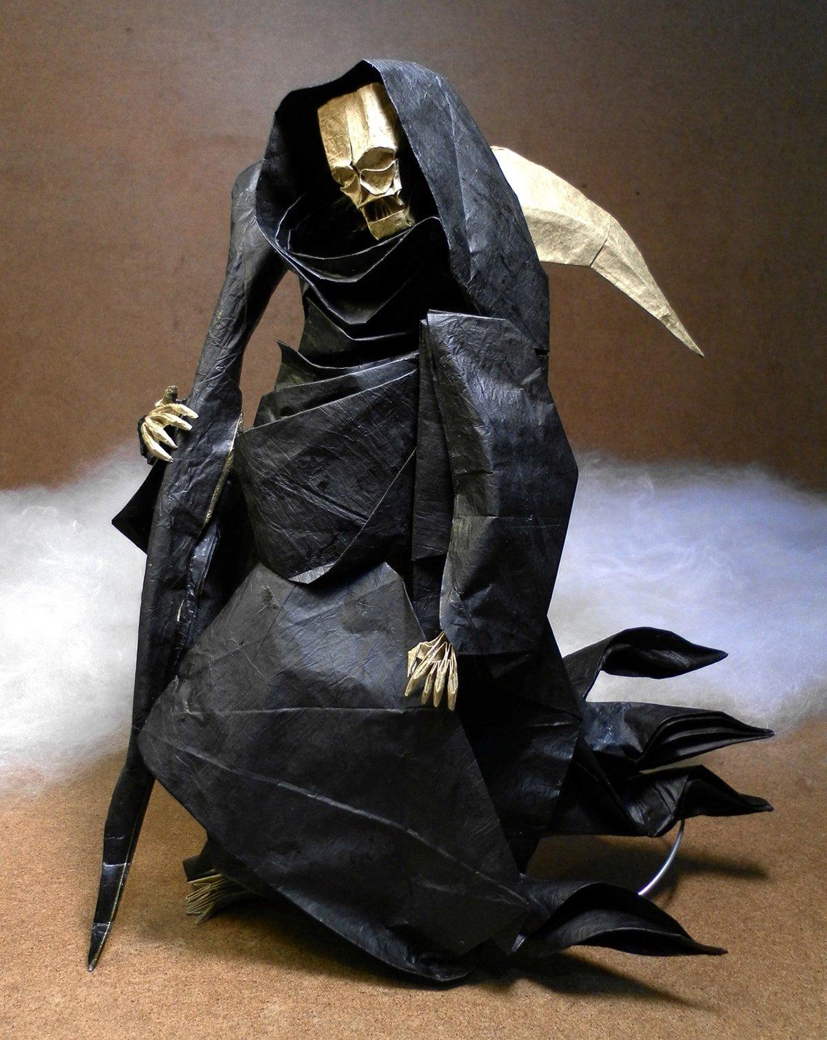 Origami Grim Reaper by Mariano Zavala B.