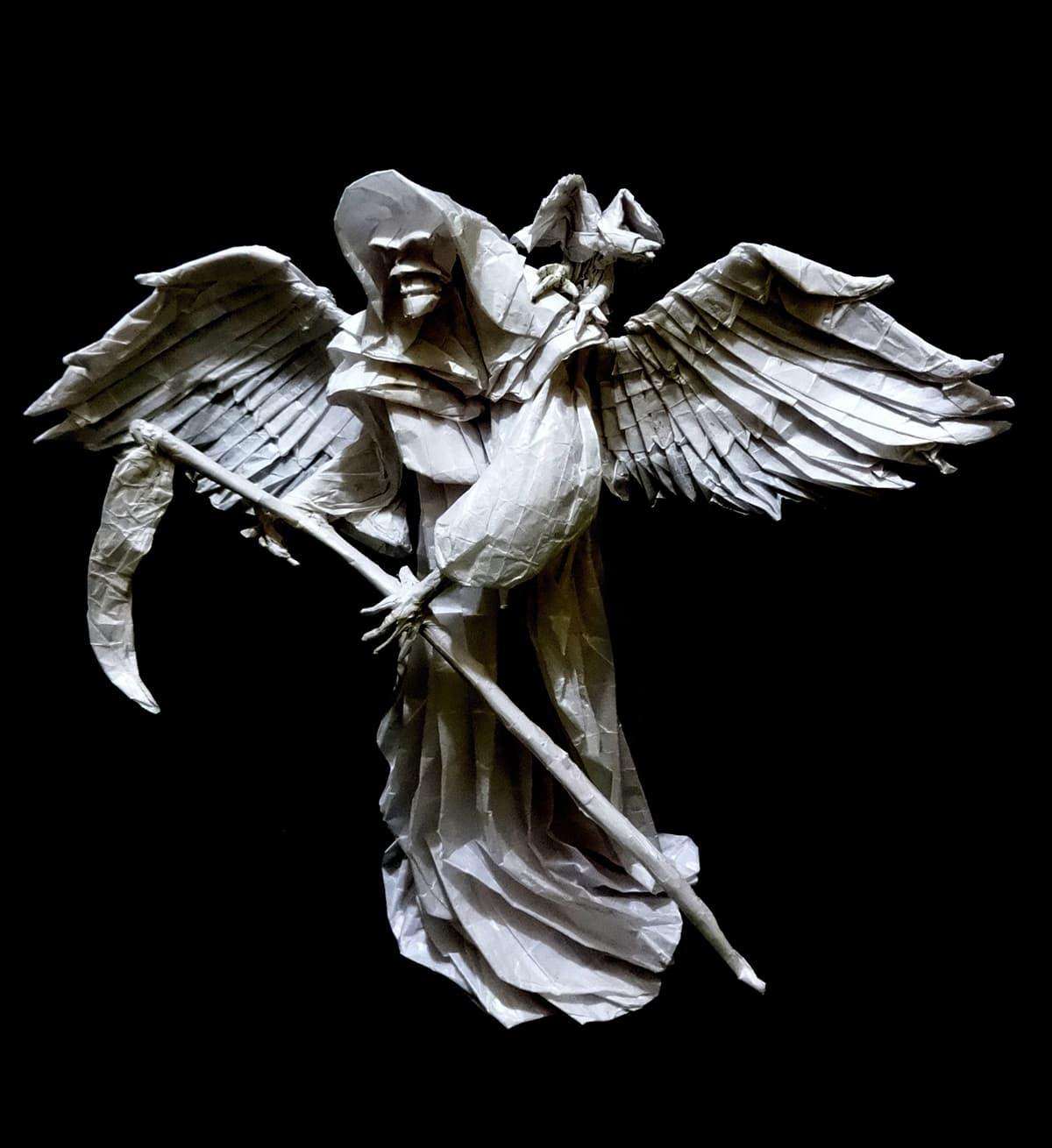 Origami Grim Reaper by Neelesh Kumar