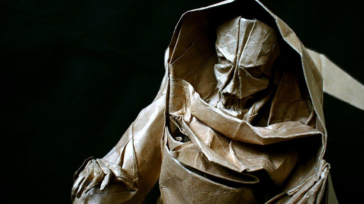 Origami Grim Reaper by Tong Liu