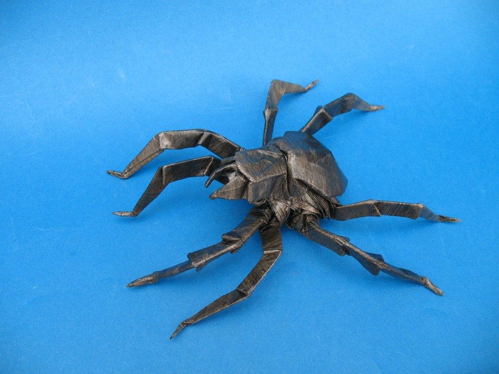 Spider | Halloween origami, Origami diagrams, Origami easy | 768x1024