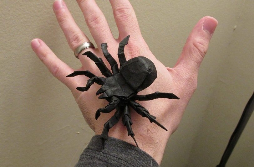 How to make a paper spider | origami spider tutorial only one ... | 533x812