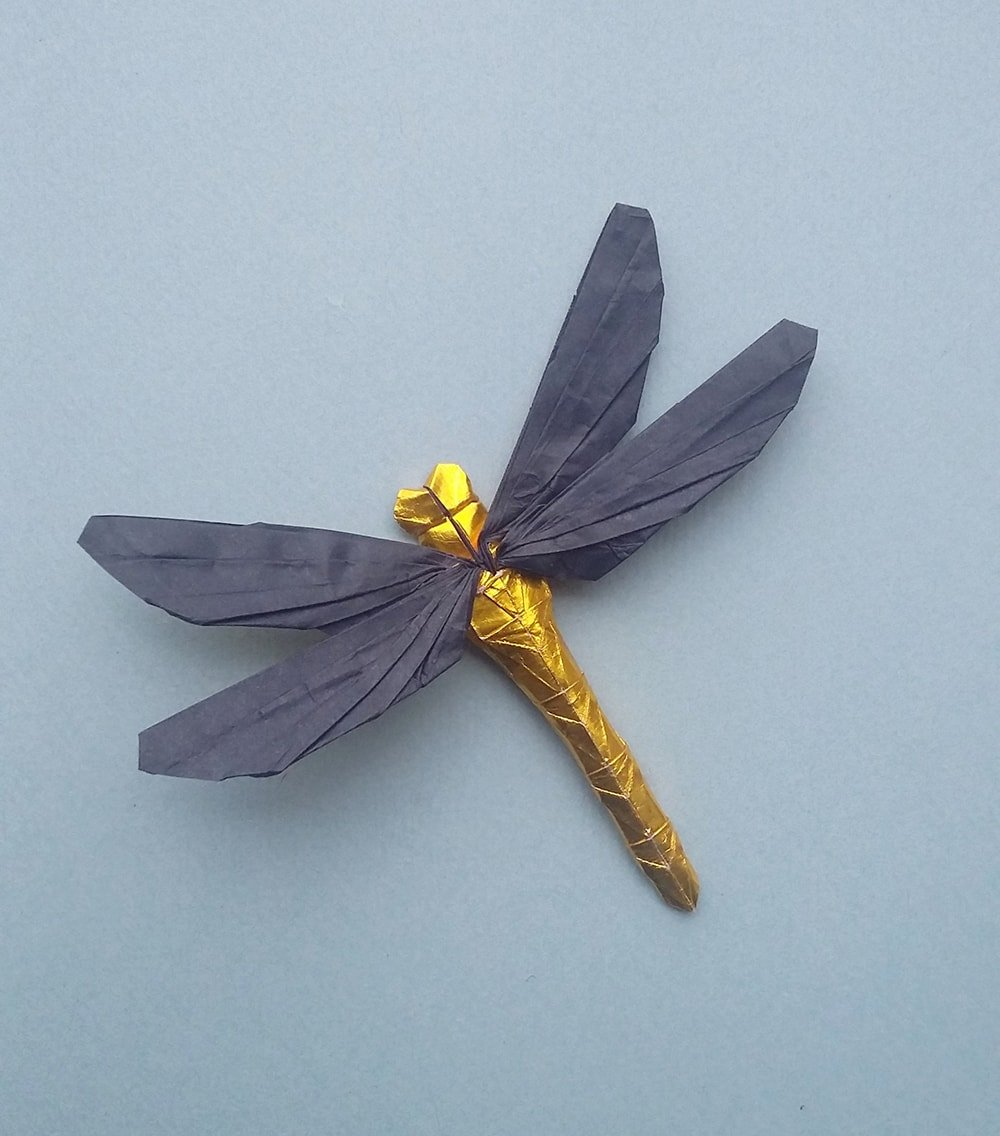 Origami Dragonfly - Tutorial - How to make an origami Dragonfly ... | 1136x1000