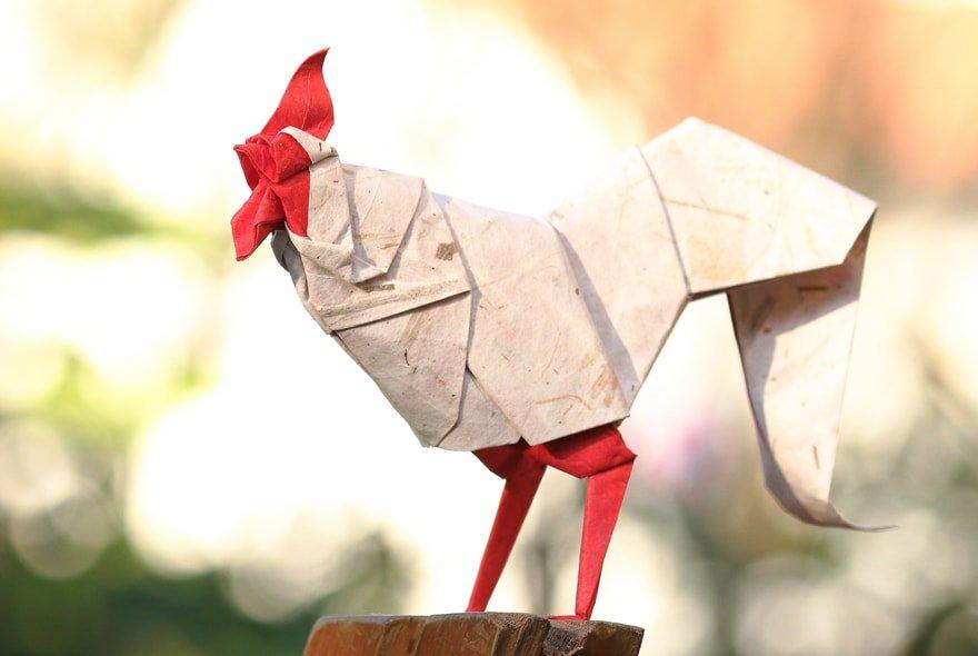 Origami Chickens
