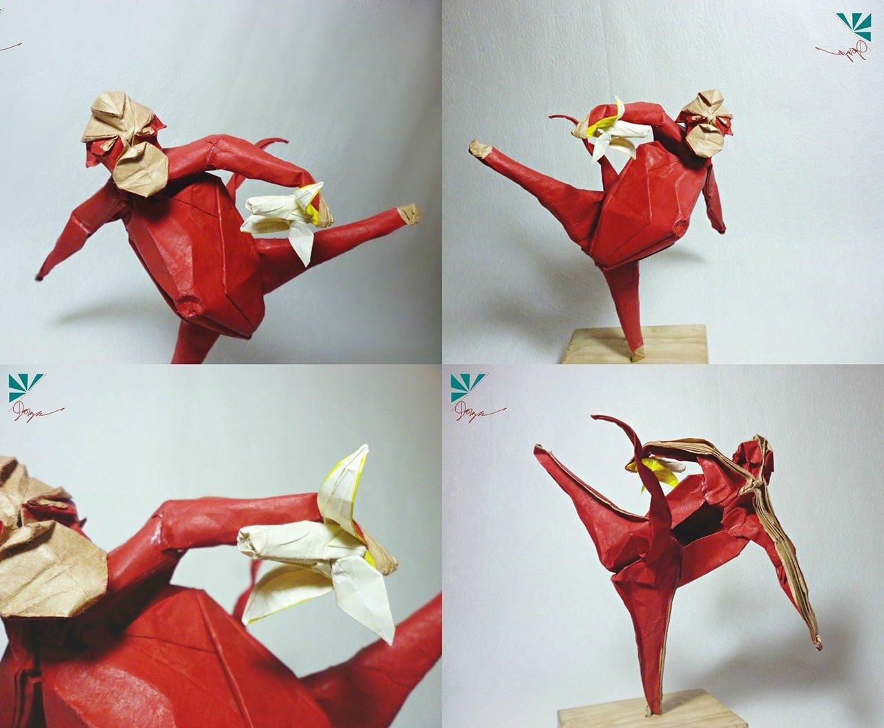 Origami Monkey (Jo Nakashima) - YouTube | 1054x1280