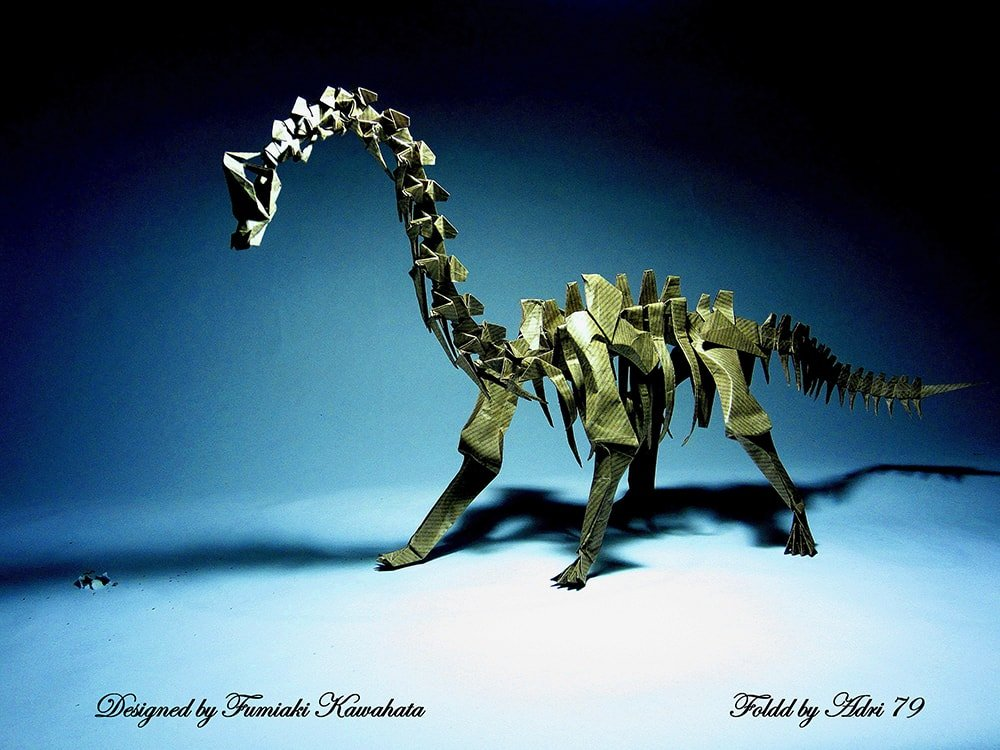 Playful Brachiosaurus Skeleton