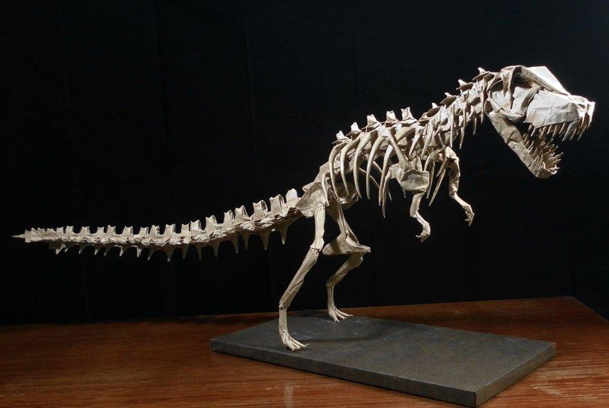 Mind Blowing Origami Dinosaur Skeletons