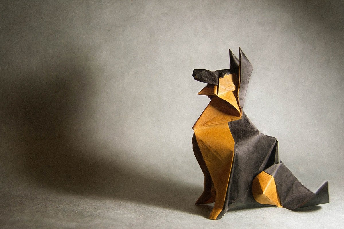 Origami German Shepherd Dog Instructions