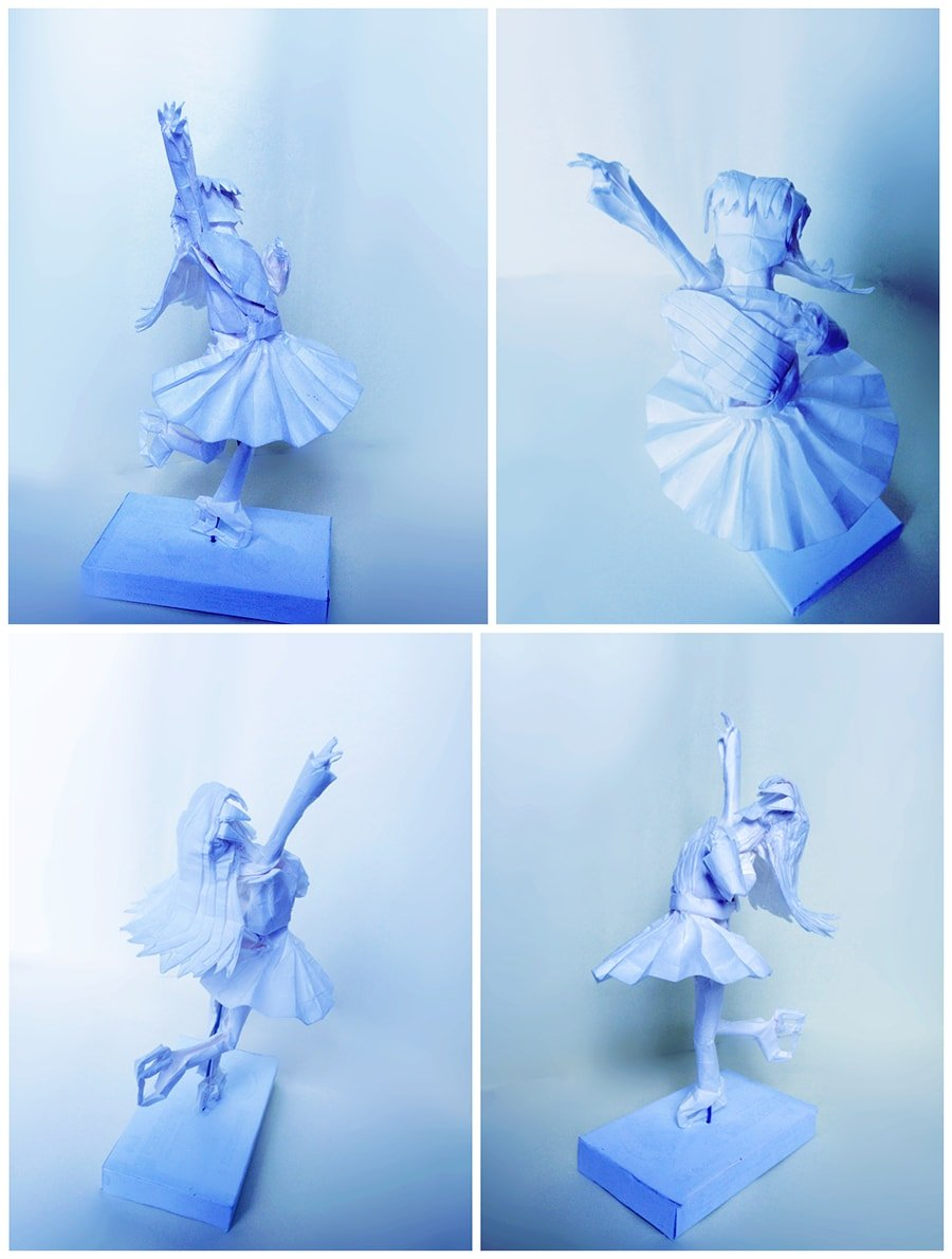 25 incredible japanese anime characters in origami form