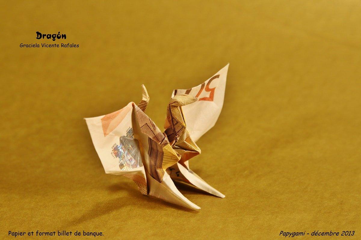 Origami Money Dragon
