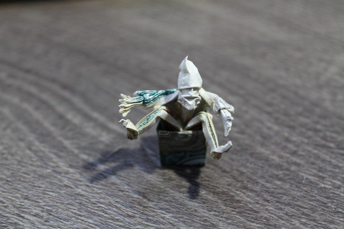 Origami Money Dwarf