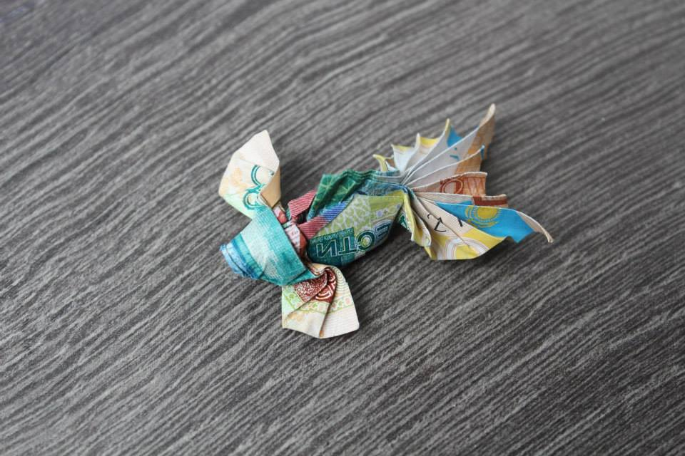 Origami Money Goldfish