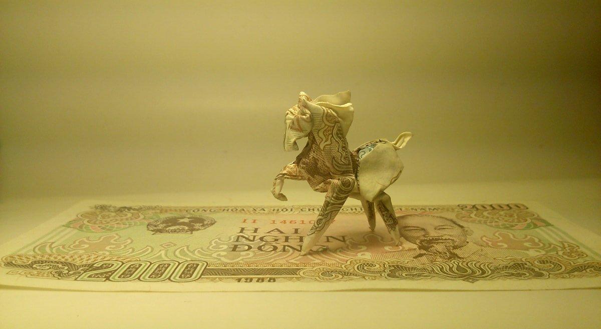 Origami Money Horse 3