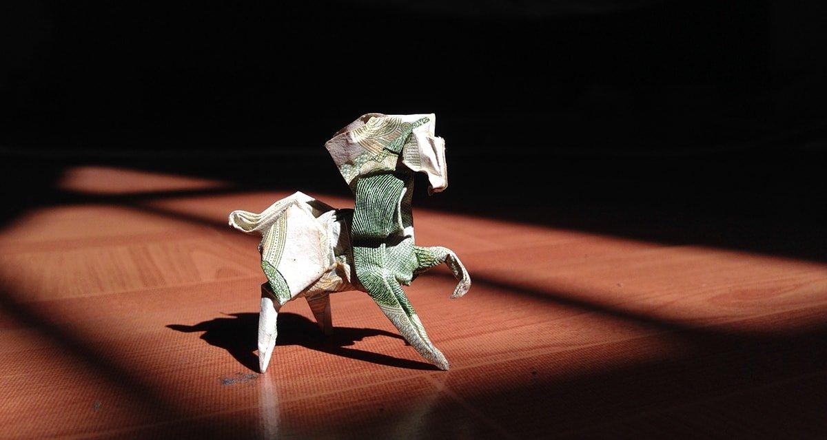 Origami Money Horse
