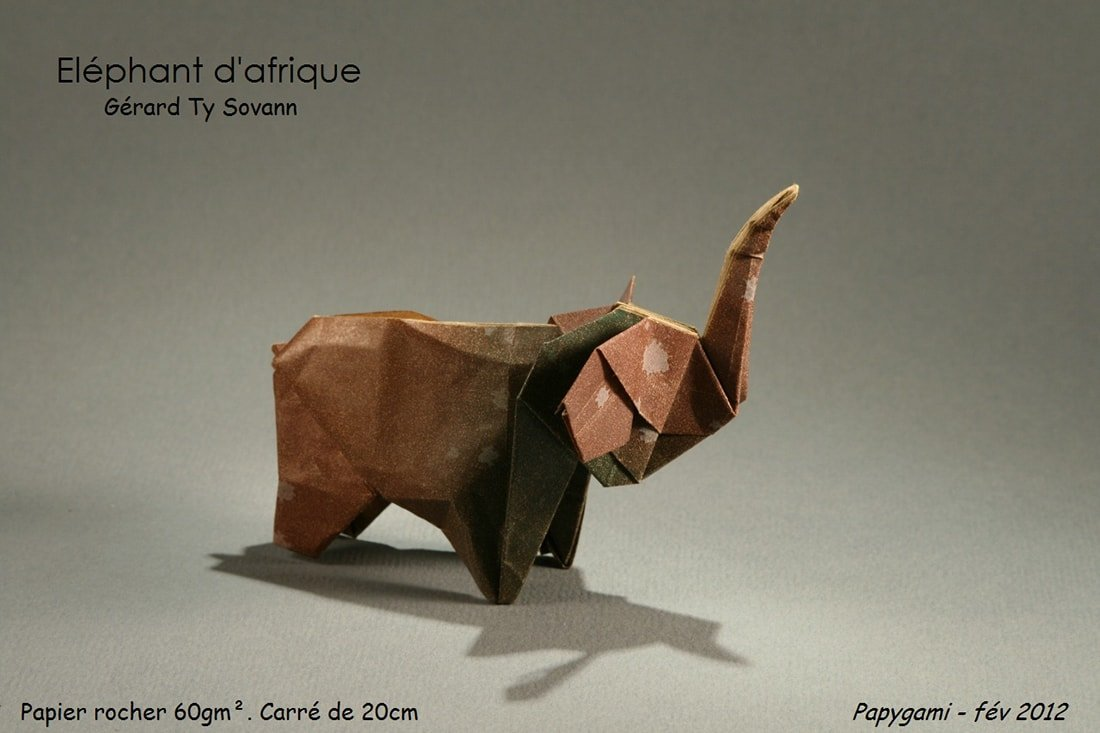 Origami Animals - How to make an Origami Elephant step-by-step ... | 733x1100