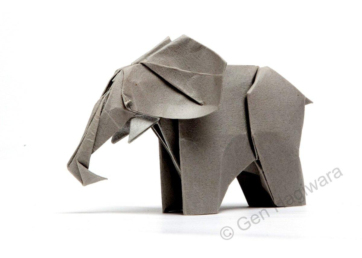 How to Make an Origami Elephant Designed by Fumiaki Kawahata | 857x1200