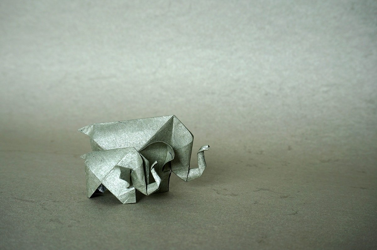 How to make an Easy Origami Elephant - DIY Paper Elephant ... | 797x1200