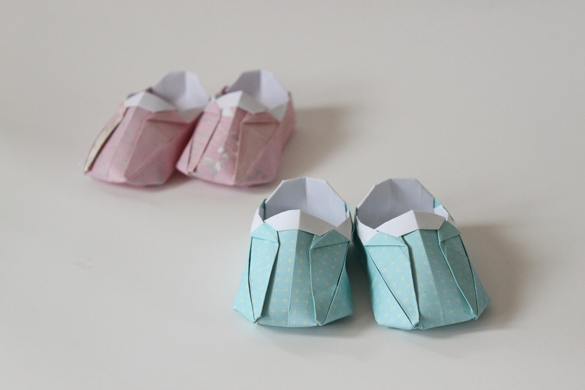 Pink and Blue Shoes