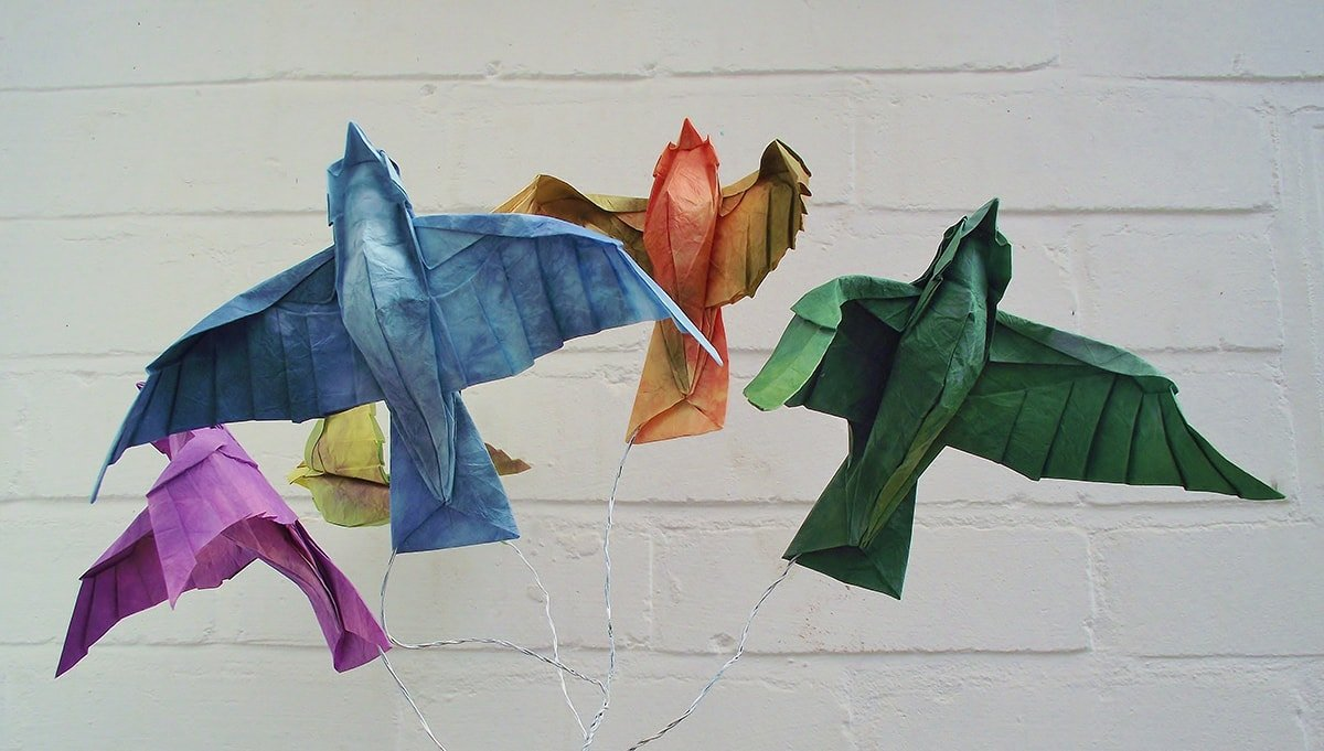 Flock of Colourful Birds by Edgar